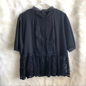 🆕 Zara Black Lace Blouse